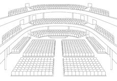 Interior of theater hall plan  Stock Image