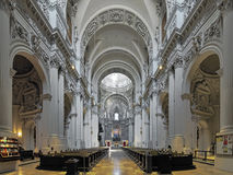 Interior of Theatinerkirche in Munich, Germany royalty free stock images