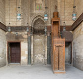 Interior of theological school and Mausoleum of Sultan Qalawun, Stock Photo