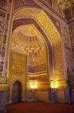 Interior of Tilya Kori Mosque and Madrasah located in Registan royalty free stock photos