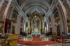 Interior of Timisoara german Dom Stock Images