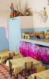 Interior of a tiny kinder garden, Cuba, Trinidad Royalty Free Stock Image