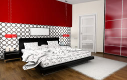 Interior to bedrooms Royalty Free Stock Photos