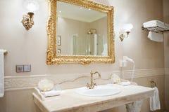 Interior of toilet. Modern style interior design of a bathroom Stock Photos