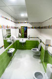 Interior of toilet for kids Stock Image