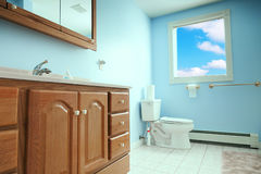 Interior of toilet room Royalty Free Stock Photos