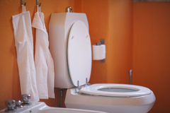 Interior of the toilet room Stock Photo