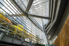 Interior of Tokyo International Forum Royalty Free Stock Images