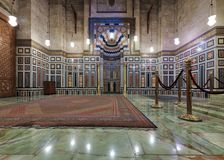 Interior of the tomb of the Reza Shah of Iran, Al Rifaii Mosque Stock Image