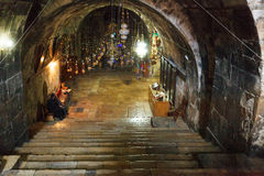 Interior Tomb of the Virgin Mary, Kidron Valley, Jerusalem Stock Image