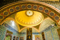 The interior of Topkapi palace. The amazing and beautiful interior of Topkapi palace in Istanbul, Turkey royalty free stock photo