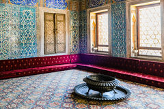 The interior of Topkapi palace. The amazing and beautiful interior of Topkapi palace in Istanbul, Turkey stock photo