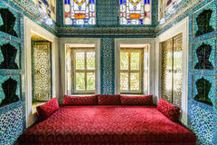 The interior of Topkapi palace. The amazing and beautiful interior of Topkapi palace in Istanbul, Turkey stock images