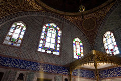 Interior of Topkapi palace in Istanbul Royalty Free Stock Photo