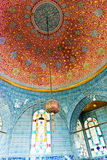 Interior of the Topkapi palace in Istanbul stock photography