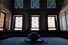 Interior of the Topkapi Palace, Istanbul. Royalty Free Stock Photography