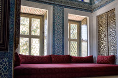 Interior of the Topkapi Palace, Istanbul. Royalty Free Stock Images