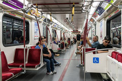 Interior of Toronto subway Royalty Free Stock Photo