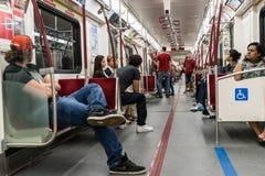 Interior of Toronto subway Royalty Free Stock Image
