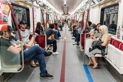 Interior of Toronto subway Stock Photo