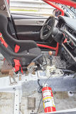 Interior of touring car for racing Stock Images