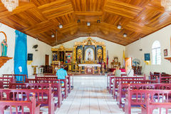 Interior of the town square church in Pedasi, Panama. Stock Images