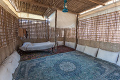 Interior of a traditional bedouin tent Stock Photo