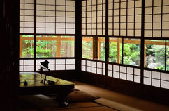 Interior of traditional Japanese style, Kyoto Japan. Royalty Free Stock Image