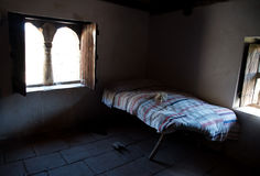 Interior of a traditional old house bedroom Royalty Free Stock Photos