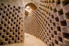 Interior of the traditional pigeon house in Yazd province, Iran Royalty Free Stock Photos