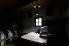 Interior of a traditional Romanian house as seen in a museum in Maramures Stock Photography