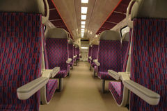 Interior of train Stock Image