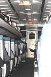 Interior of a Train car Stock Image