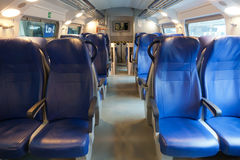 Interior of the train of the long-distance message Stock Photos