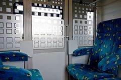 Interior of a train Royalty Free Stock Photo