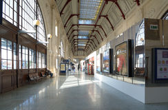 Interior of the train station of La Rochelle, France Royalty Free Stock Image