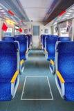 Interior of train Stock Photo