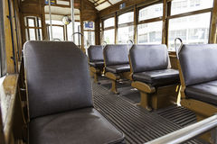 Interior of a tram in Lisbon Royalty Free Stock Image