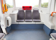 Interior of a tram or streetcar Royalty Free Stock Photos