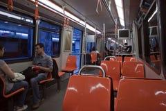 Interior of tramway. In Antalya, Turkey Stock Images