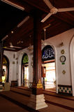 Interior of The Tranquerah Mosque or Masjid Tengkera Royalty Free Stock Images