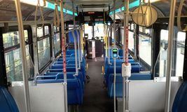 Interior of a Transit Bus Royalty Free Stock Photo