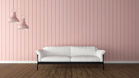 Interior Trends 3d render Rose Quartz Royalty Free Stock Photo