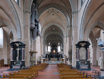 Interior of the Trier Cathedral, Germany. Interior of the Trier Cathedral of Saint Peter, Germany Stock Photo