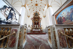 Interior of Trinitatis Kirke in Copenhagen Stock Photo