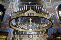 Interior of the Trinity cathedral in Pochaev Lavra (Pochayiv) ne Royalty Free Stock Photos