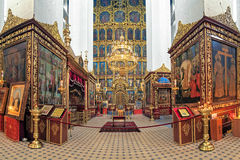 Interior of the Trinity Cathedral in Pskov, Russia Stock Photography