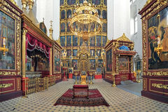 Interior of the Trinity Cathedral in Pskov, Russia Royalty Free Stock Photo
