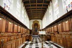 Interior of Trinity College Chapel with Lectern Stock Photo