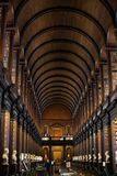 Interior of Trinity College Library, Dublin stock image